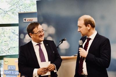 Hessen als Vorbild: Ministerpräsident Armin Laschet wirbt für starke CDU