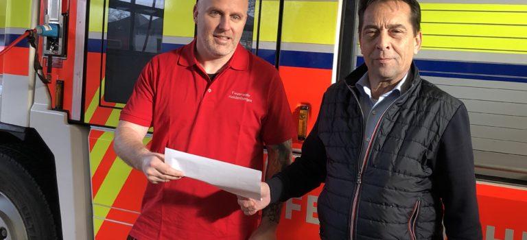 Sie sind da, wenn's brennt: Land Hessen unterstützt Feuerwehr Heldenbergen mit 500 Euro